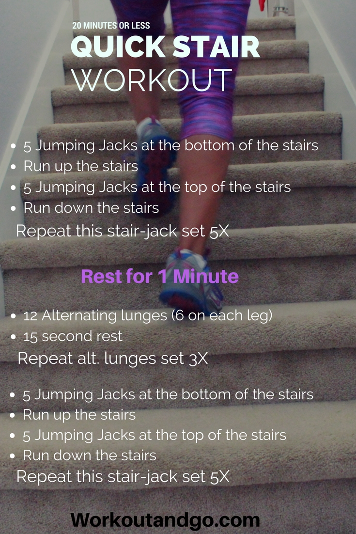 Boost Your Metabolism in 20 Minutes or Less with this Quick Stair Workout
