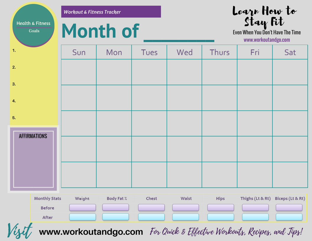 Free Workout Tracker Happy New Year